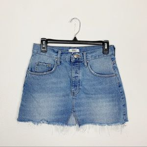 Forever 21 Button Fly Denim Mini Skirt Sz 25